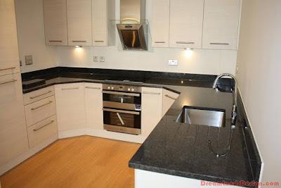 Modern kitchen design with granite worktops