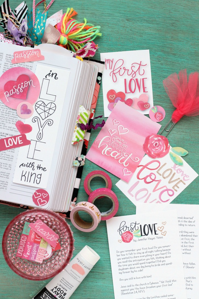 Free First Love Devotion Bible Journaling Printables