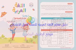 دليل معلم اللغة العربية للصف الاول الابتدائى منهج تواصل الجديد 2019