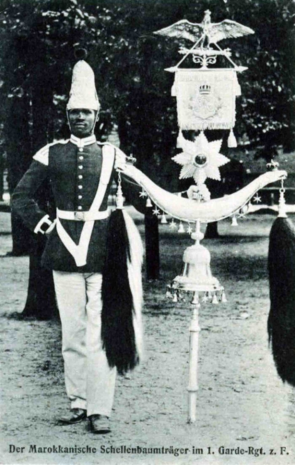 Schellenbaum player Ben Aissa, 1st Prussian Foot Guards.