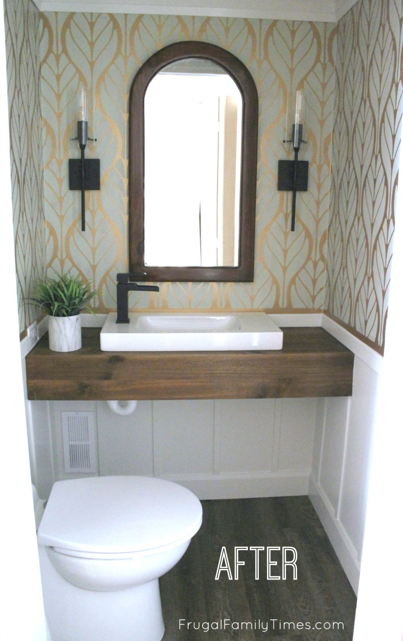No Rough In No Problem Our Diy Basement Bathroom From A Closet