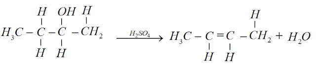 reaçao desidrataçao butanol-2
