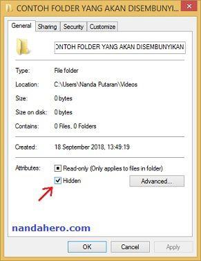 Ada sedikit file atau folder di laptop yang cukup ingin kamu sembunyikan Tutorial Gampang Menyembunyikan File/Folder di Laptop (Tanpa Aplikasi)