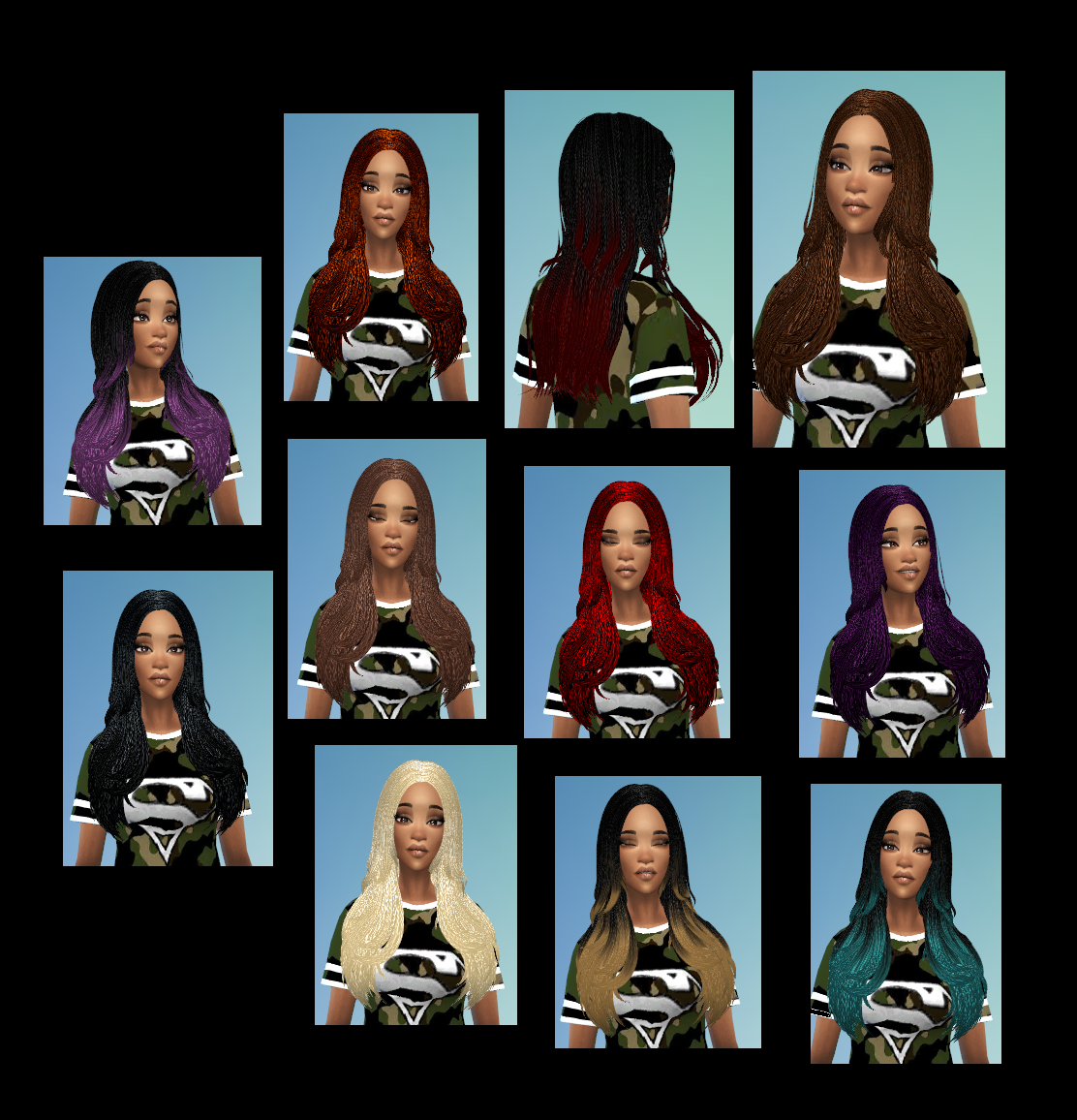My Sims 4 Blog: Braids & Dreads Hair Retexture Set by ...