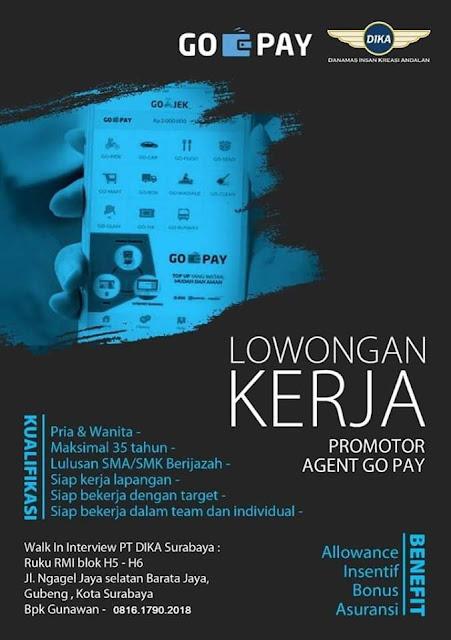 lowongan kerja promotor agent Go Pay