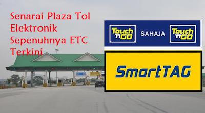 Senarai Plaza Tol Elektronik Terkini