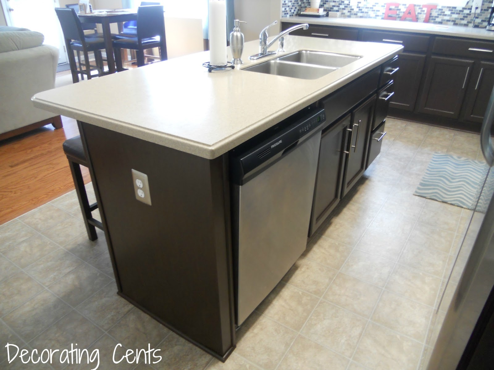 electrical outlet dishwasher install kitchen island Electrical outlet next to dishwasher countertop appliance install kitchen House remodeling decorating construction energy use kitchen bathroom