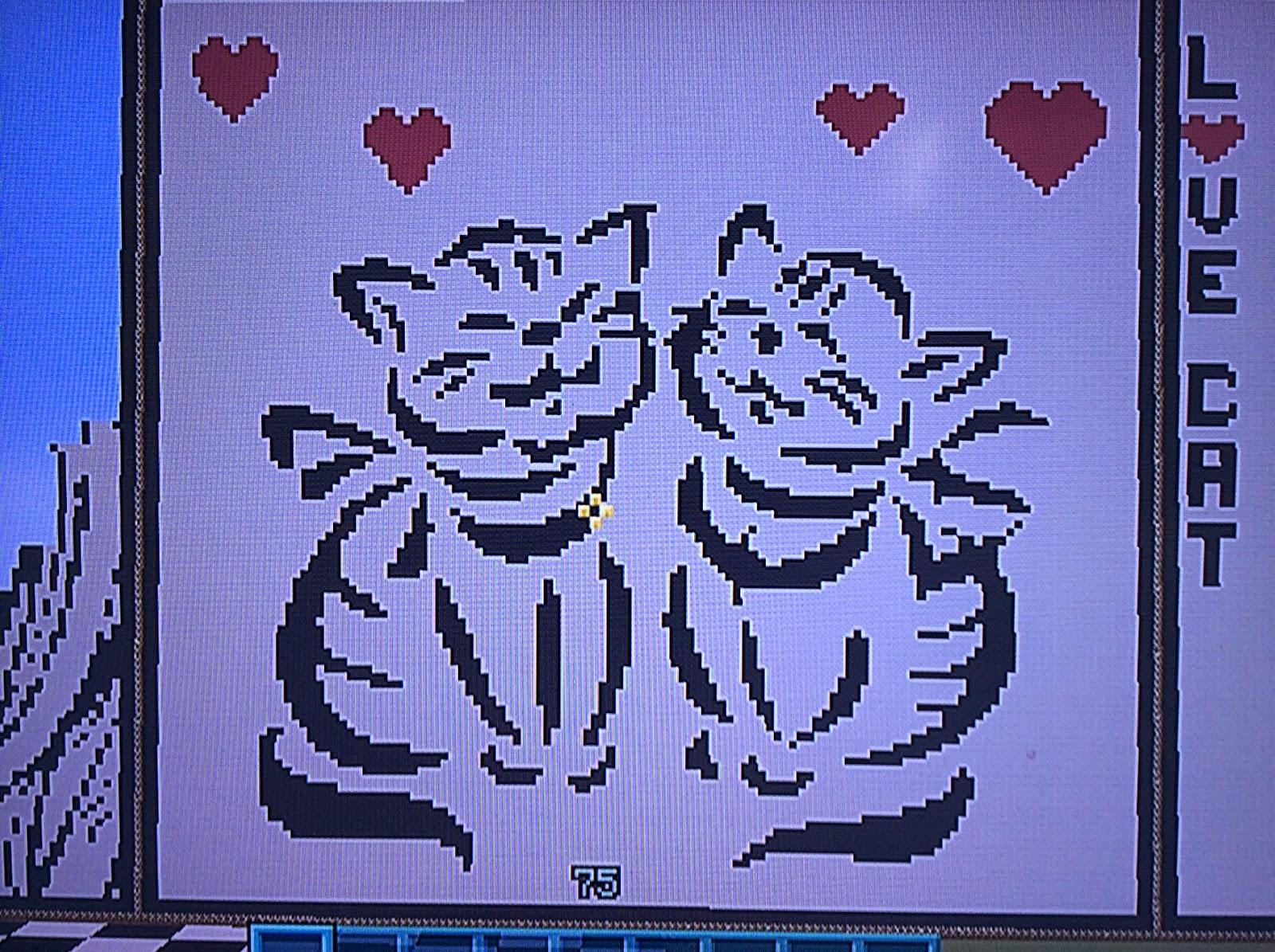 Passion Pixel Art Pixel Art Chat Amoureux