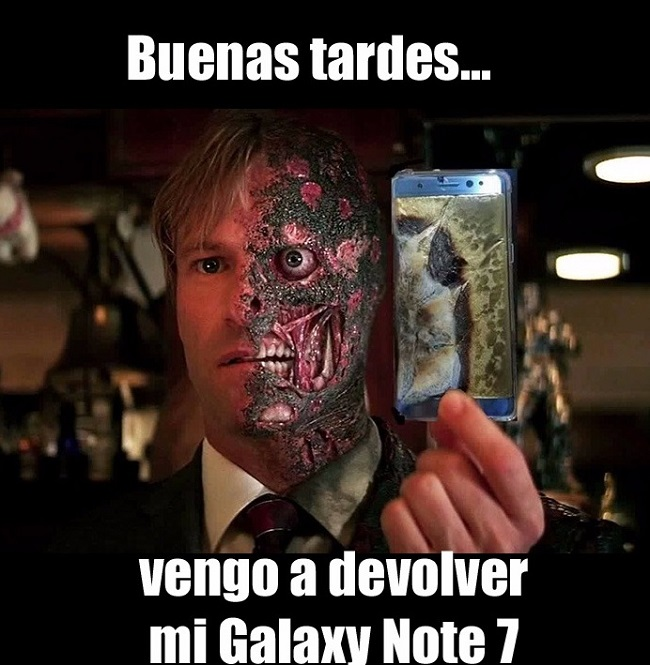 Vengo a devolver mi Galaxy Note 7 harvey dos caras