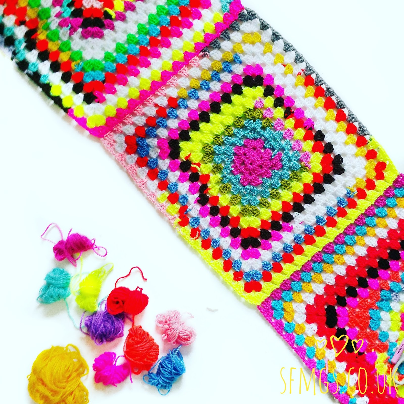 how to crochet granny squares together to make a blanket