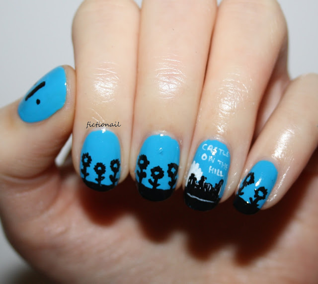 Ed Sheeran Nail Art Castle on the Hill Divide Nail Art