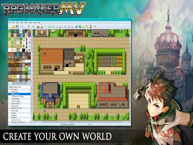 Belajar RPG Maker MV - Intro, pembuatan map, basic event