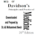 MCQ OF Davidson's Principles and Practice of  Medicine 20th Edition