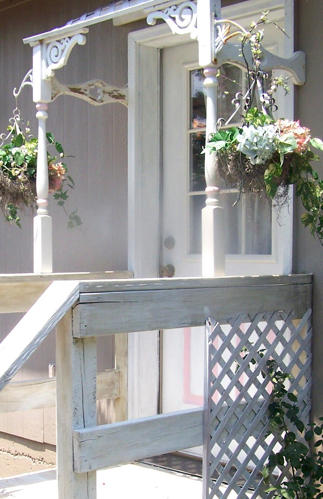 Olivia 39 s romantic home tiny chic porch - How warm does it have to be to paint outside ...