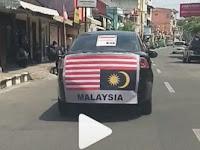 Viral, Video Warga Solo Keliling Kota Bawa Bendera Malaysia Terbalik