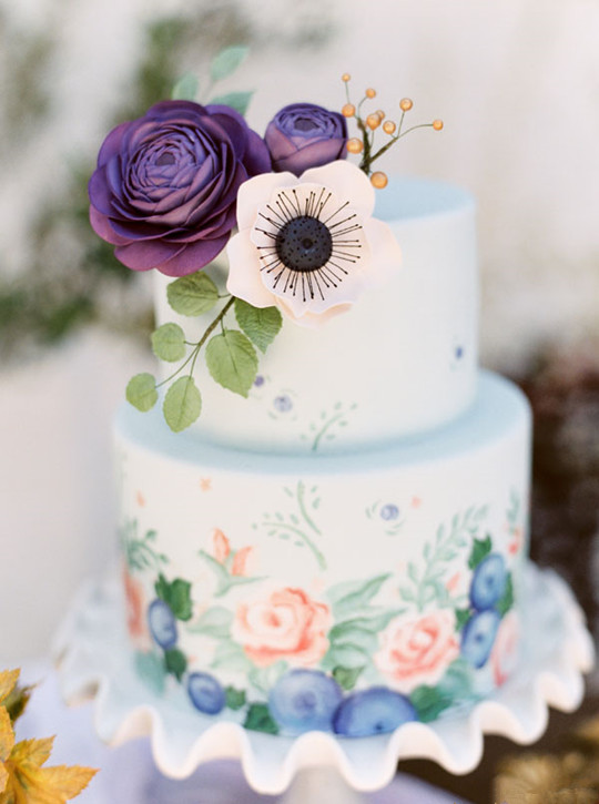 vintage Fall Wedding Cake Inspiration