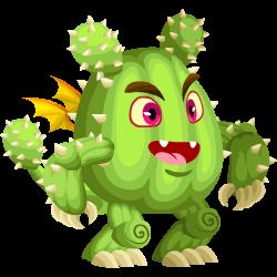 Das Erscheinen des Teenager Kaktus-Drache