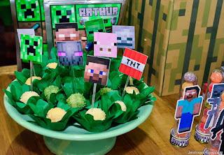 Festa para Menino com Decoração Inspirada no Minecraft
