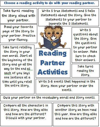 Reading Activities for Elementary Classrooms
