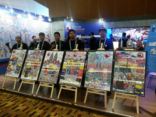 Artis Doodle Berkarya di Offshore Technology Conference Asia #OTCASIA