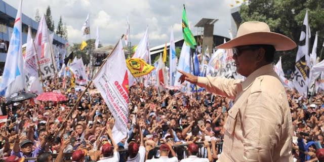 Diberitakan Ditinggal Massa saat Kampanye, Prabowo: Ada TV Mencetak Kebohongan