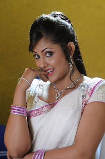 Madhu Shalini Looks Cute and Beautiful in white Saree choli