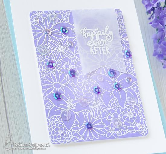 Happily Ever After Wedding Card by Tatiana Trafimovich | Blooming Botanicals and WeddingFrills Stamp Sets and Frames & Flags Die Set by Newton's Nook Designs #newtonsnook #handmade