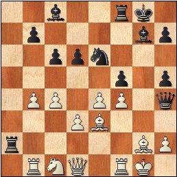 Lyon 1955: Partida de ajedrez , posición después de 21.Cc1?