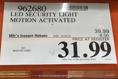 Deal for the Home Zone Security LED Motion Light at Costco