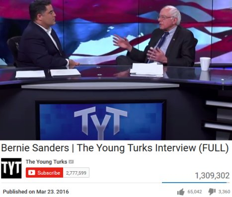 Cenk Uygur -The Young Turks - Bernie Sanders