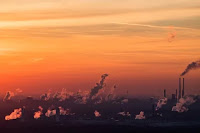 Industrial Smokestacks (Credit: Lukas Schulze / Getty Images) Click to Enlarge.