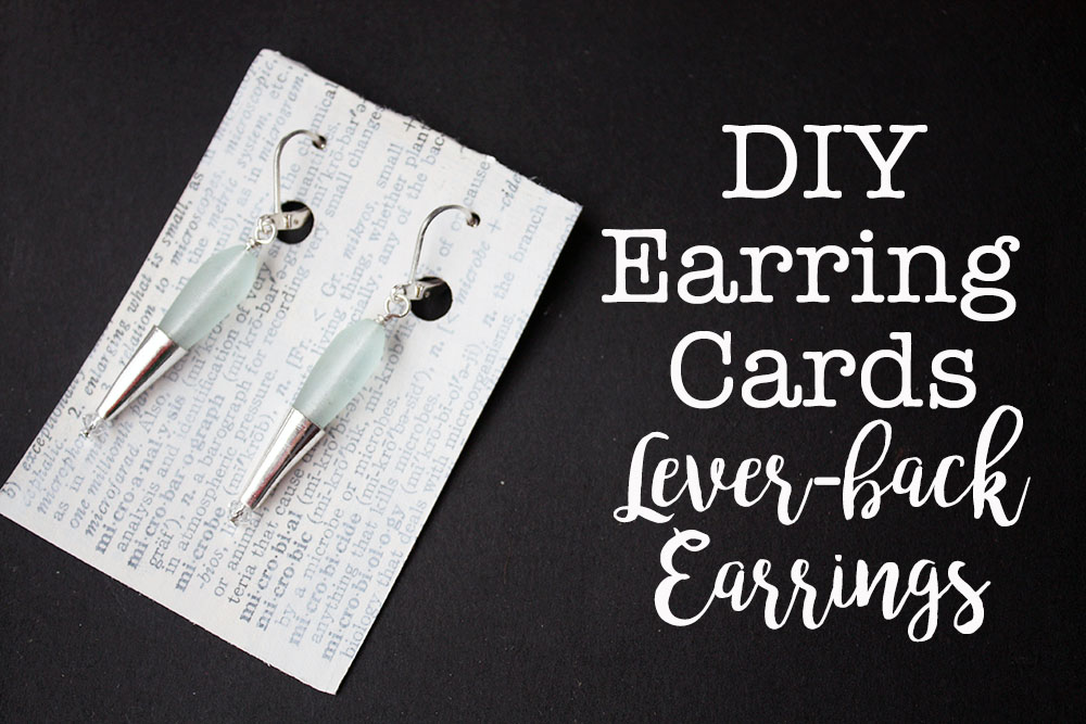 Diy Earring Cards For Lever Back Earrings