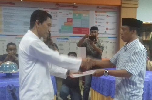 KPU Selayar Serahkan Hasil Vertual, Ke Partai Garuda Dan Berkarya