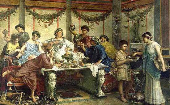 Aniversário Roma antiga