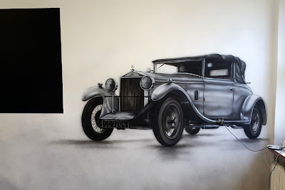 Artystyczne malowanie ścian, Toruń, malowanie samochodu na ścianie, Malowanie murali 3D