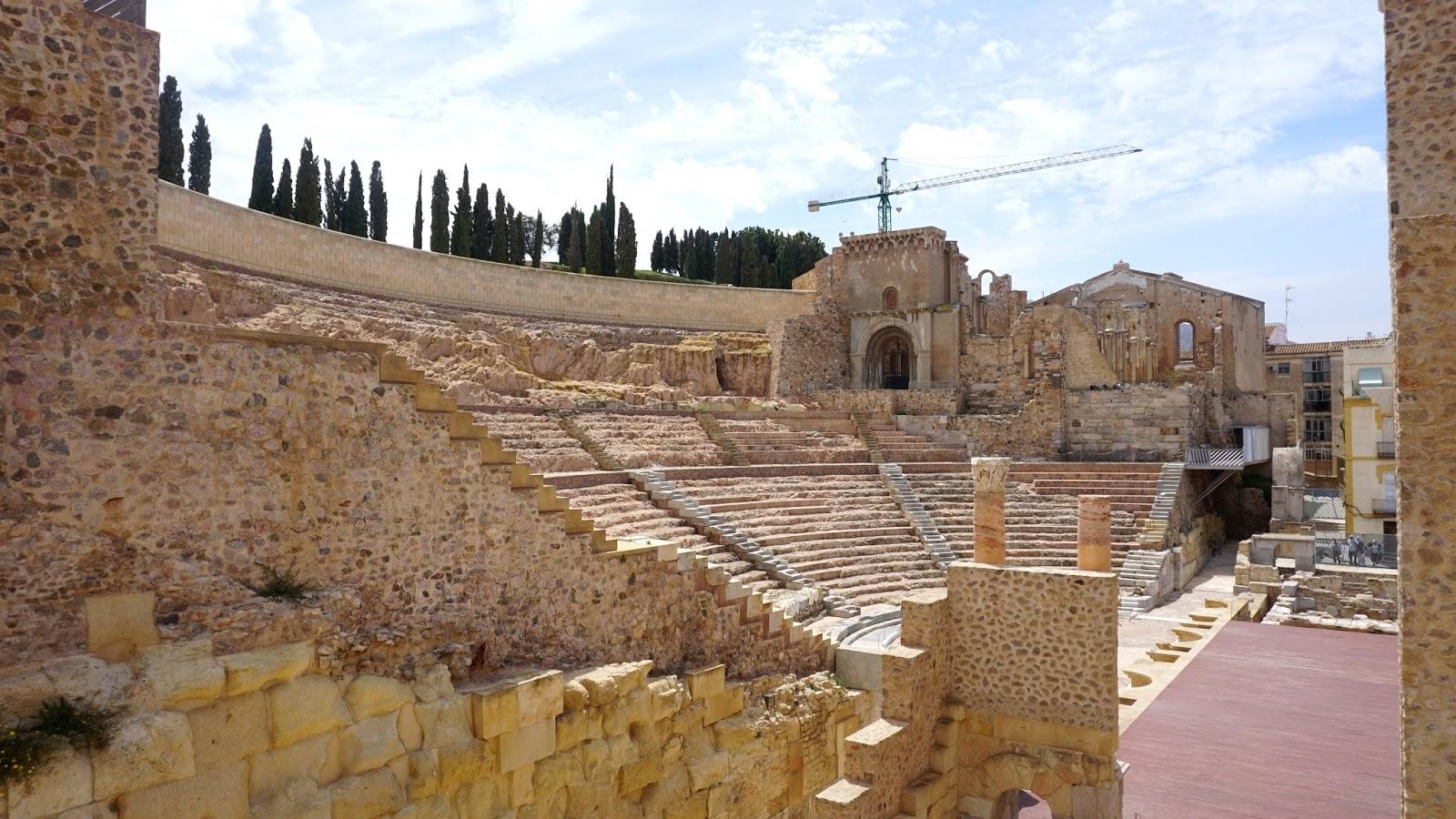 Teatro Romano, Kartagena atrakcje, zabytki z Kartagenie, Hiszpania zabytki, prowincja Murcja,  Costa Calida