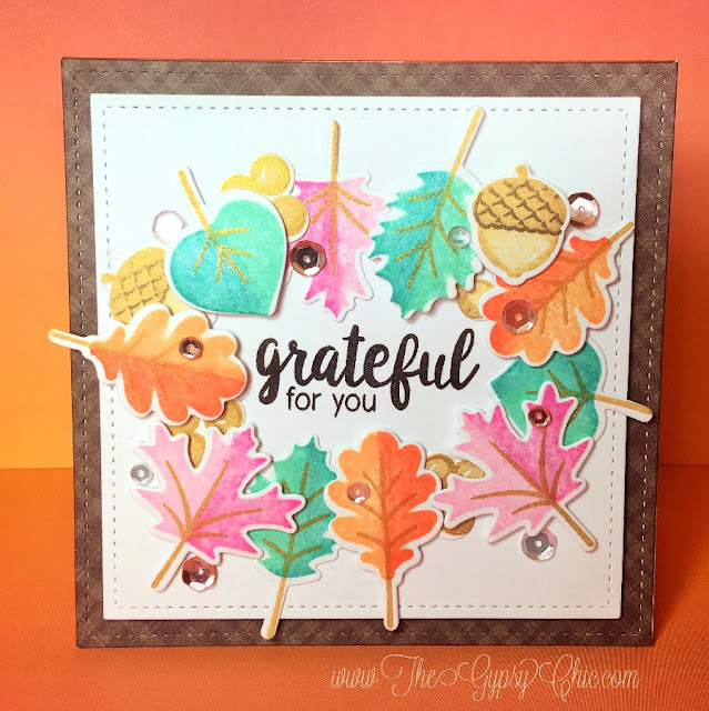 Sunny Studio Stamps: Autumn Splendor Fall Leaves Card by Stephanie Davis.