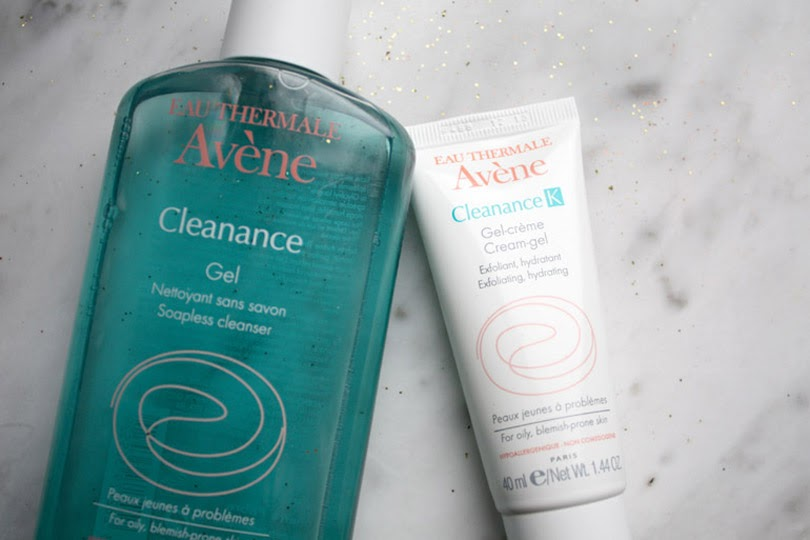 avene cleanance soapless gel cleanser and exfoliating hydrating cream-gel