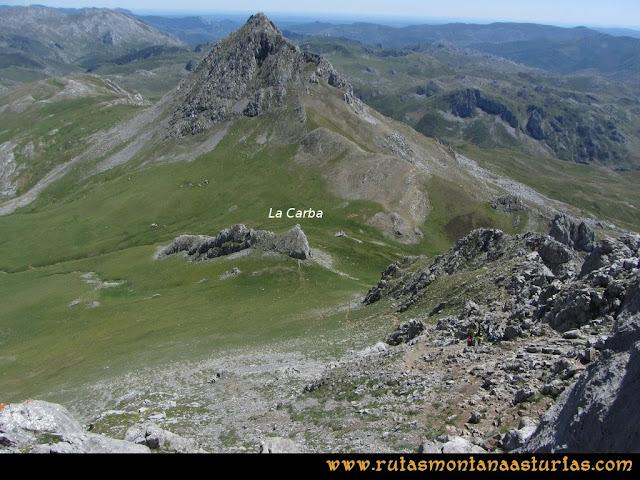 Ruta Tuiza de Arriba-Peña Ubiña: Bajando a la Carba