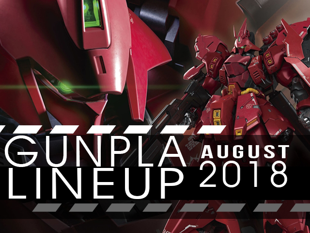 GunPla Lineup August 2018 - Gundam Kits Collection News and Reviews