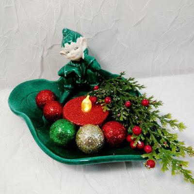 Elf Pixie on Leaf Dish