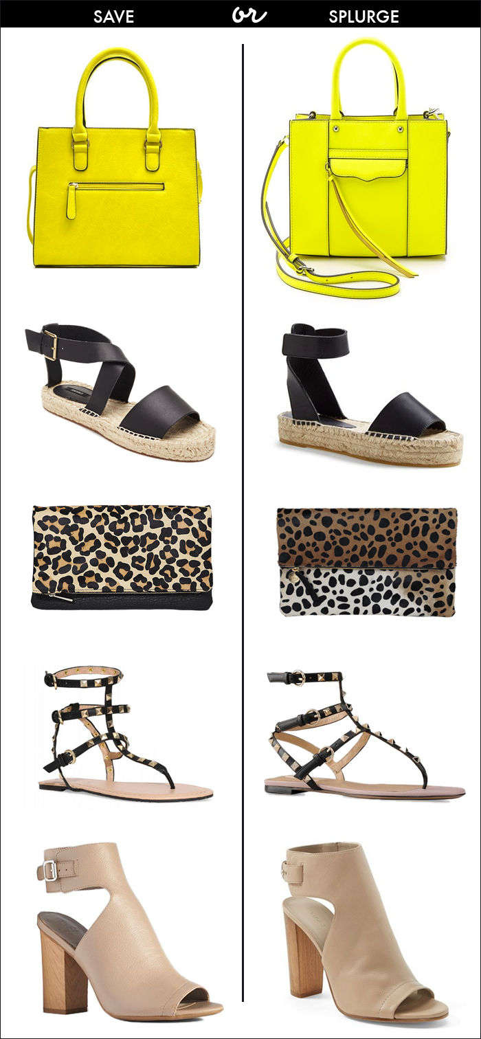 valentino for under $15, spring styles, looks for less, leopard foldover clutch, espadrilles, shopstyle