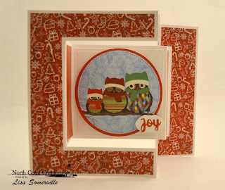 North Coast Creations Paper Collection: Very Merry, ODBD Custom Dies: Tri-Fold with Layers, Pierced Circles, Circles, Holiday Words, Mini Tags & Labels