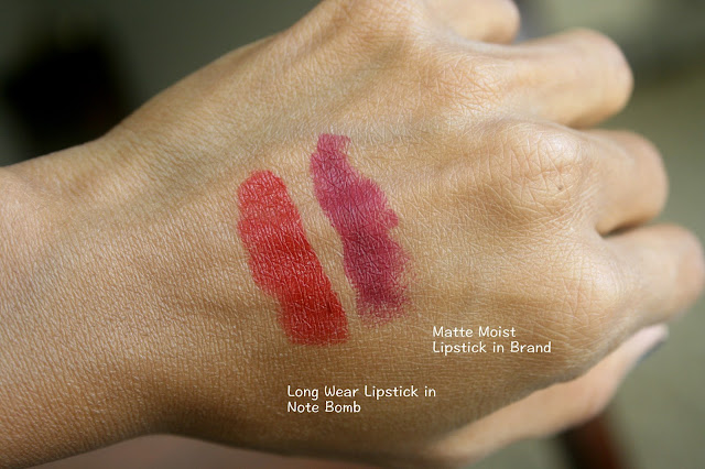 Note Cosmetics Mattemoist and Long Wear Lipsticks