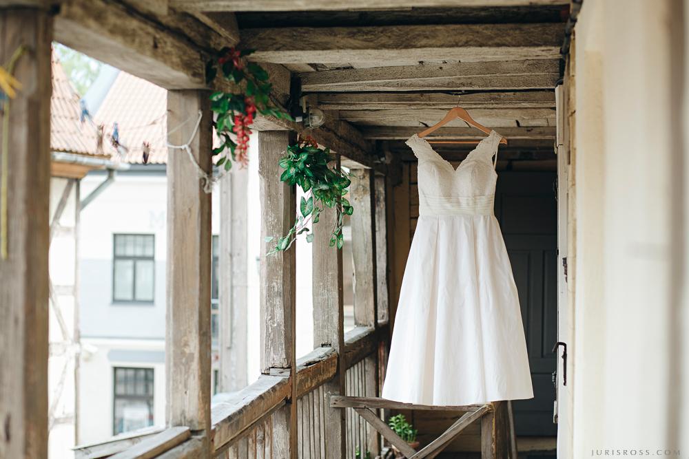 līgavas kleita kāzu rīts