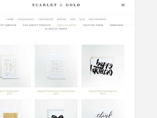 Scarlet and Gold Greeting Cards, Temporary Tattoos, and Apparel