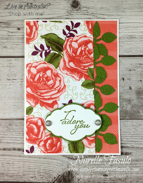 If you are a rose lover, then you are going to all in love with the gorgeous products from the Petal Garden product suite - https://www3.stampinup.com/ECWeb/ItemList.aspx?categoryID=301004&dbwsdemoid=4008228 - Simply Stamping with Narelle