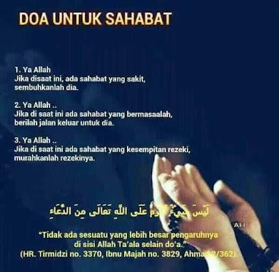 Doa Untuk Sahabat Yang Dikasihi