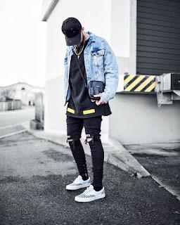 Model Ripped Jeans Dan Jaket Denim
