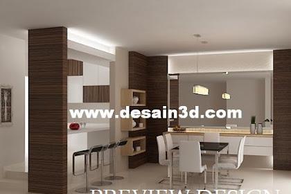 Jasa design Online ruang makan mewah elegan dengan harga murah berpengalaman